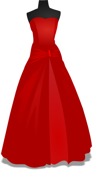banner freeuse stock Wedding clip art at. Gown clipart red dress