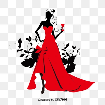 clip art transparent Gown clipart red dress. Png vector psd and.