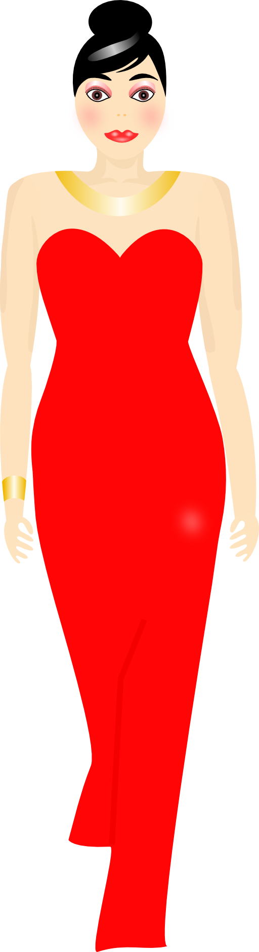 svg royalty free library Gown clipart red dress. Panda free images reddressclipart