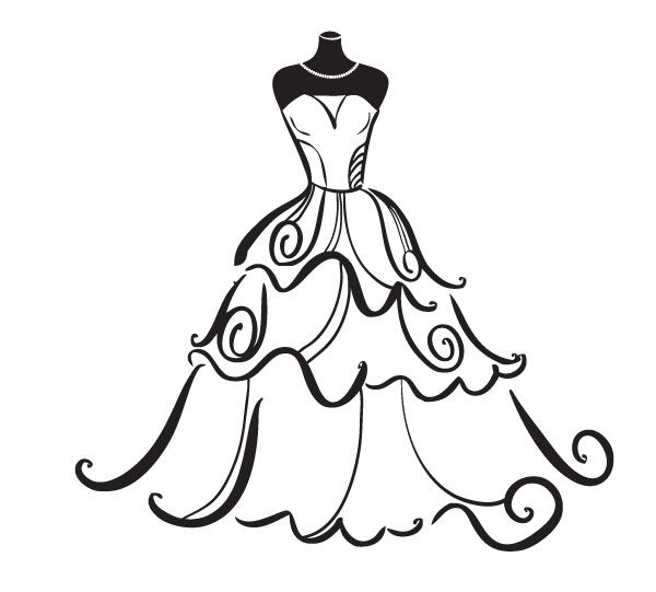 svg free stock Gown clipart. Wedding dress free best