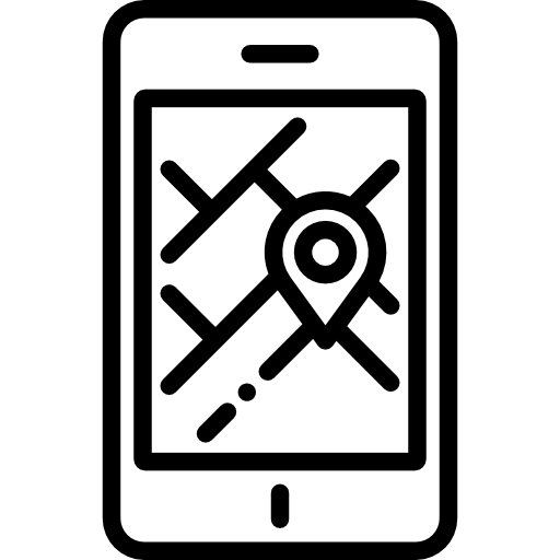 clip free library Gps clipart mobile. Street map cellphone position