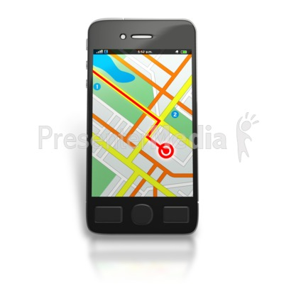 banner freeuse library Gps clipart mobile. Map route signs and