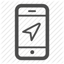 svg transparent Iphone locate location panda. Gps clipart mobile