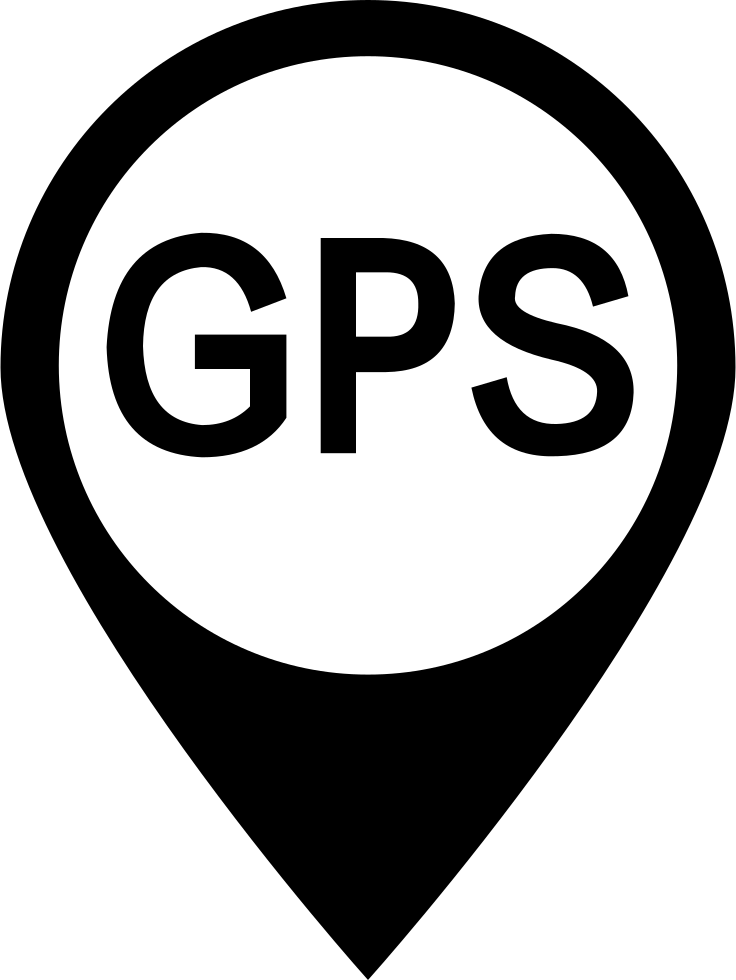 vector black and white library Png icon free download. Gps clipart svg