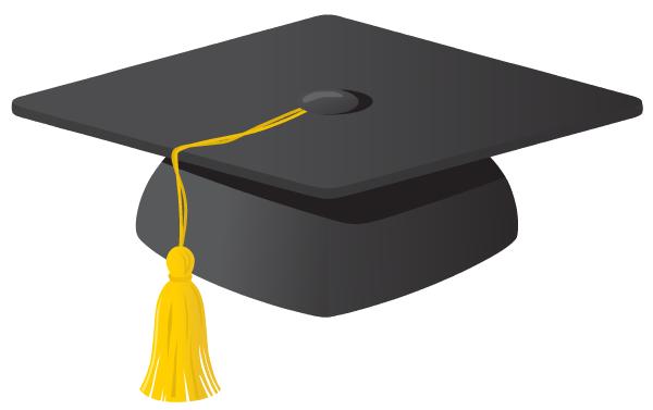 clipart black and white library Grad clipart. Free graduation clip art.