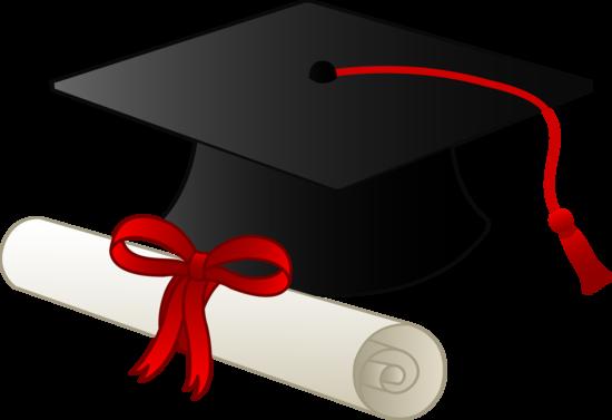 clip transparent Graduation cap with diploma. Grad clipart boy