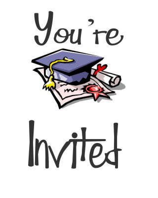 graphic royalty free library  printable cards for. Grad clipart graduation invitation