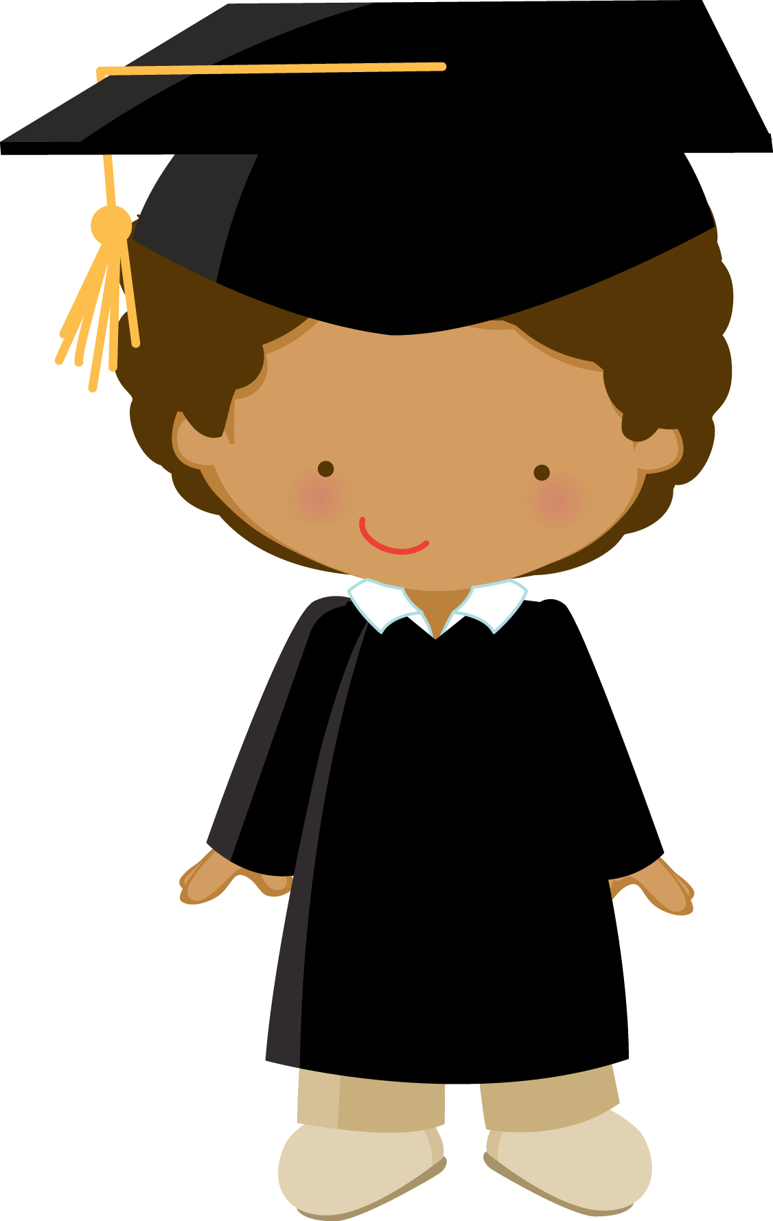 clip art library Grad clipart graduation invitation. Little graduate zwd boy