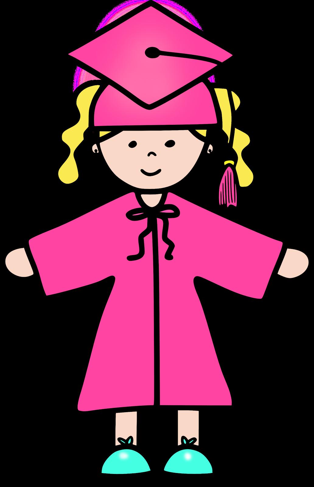 clip transparent library Graduation pink free on. Grad clipart preschool