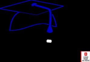 freeuse library Black graduation cap blue. Grad clipart tassle