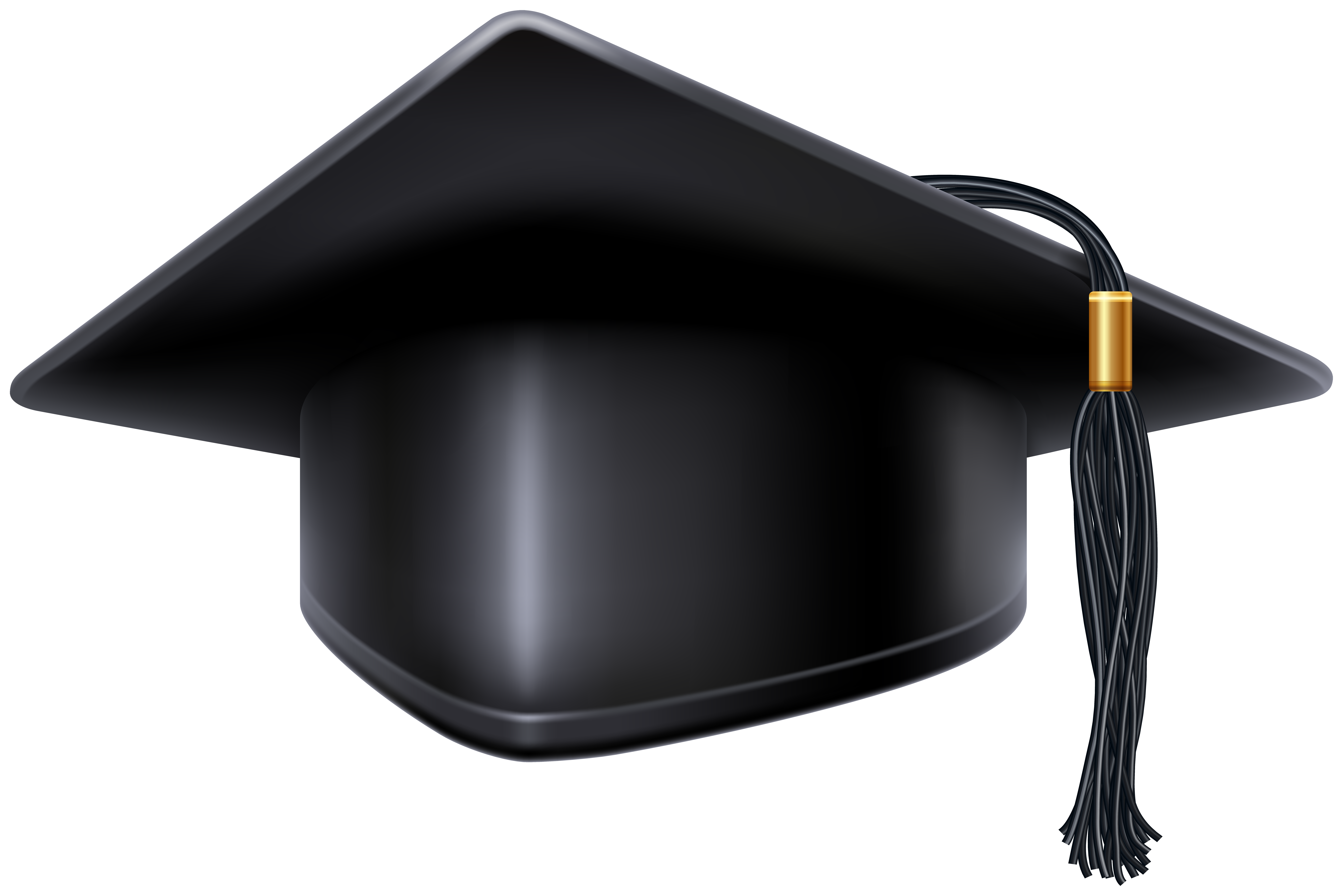 banner freeuse Black graduation cap png. Grad clipart tassle