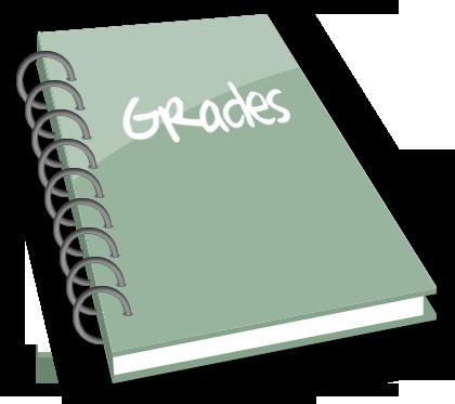 svg transparent library Grades clipart. Gradebook