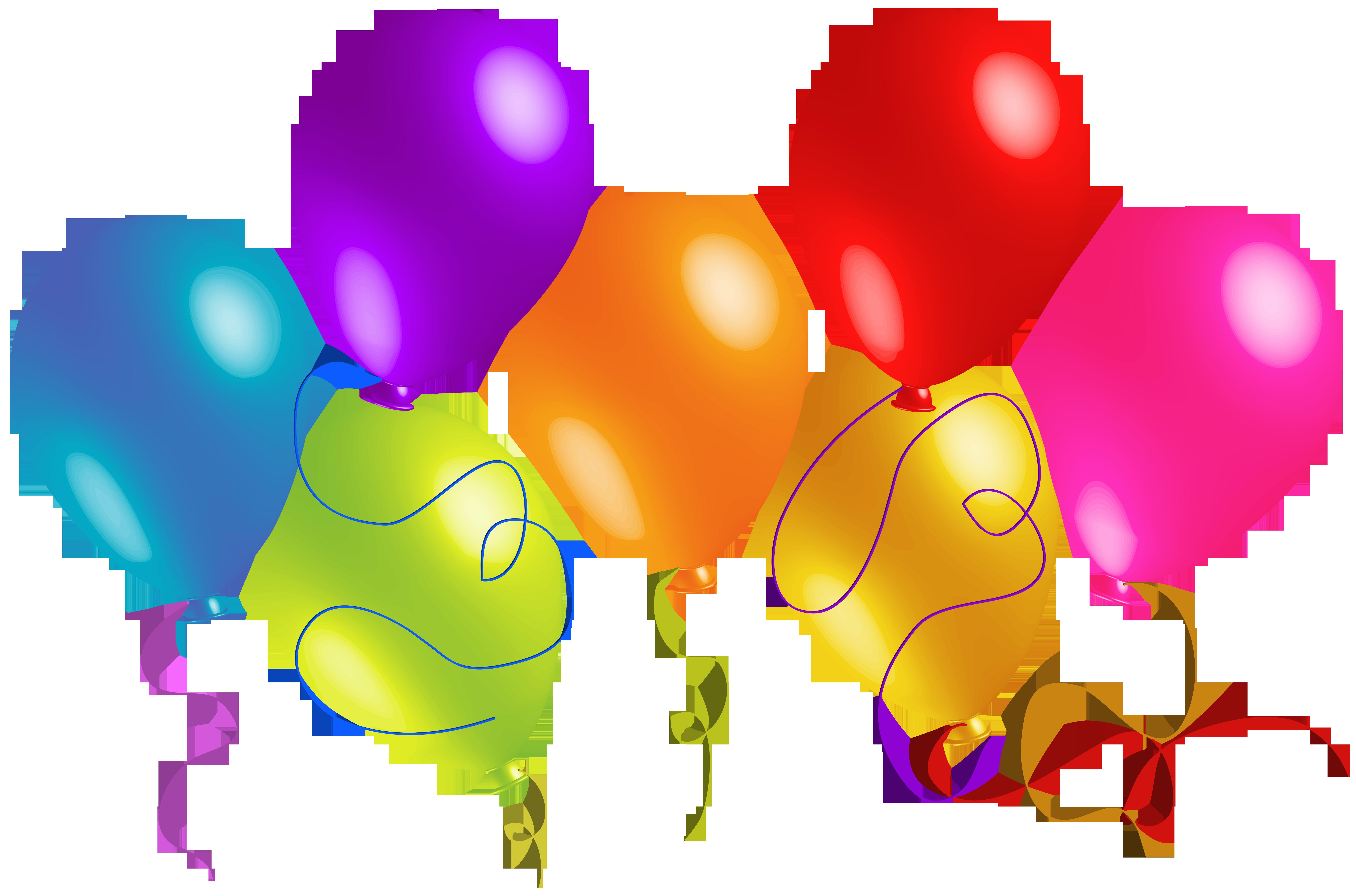clip art transparent library Large transparent colorful balloons. Grades clipart high grade