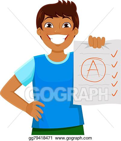 jpg library library Grades clipart intellegent. Vector art good drawing