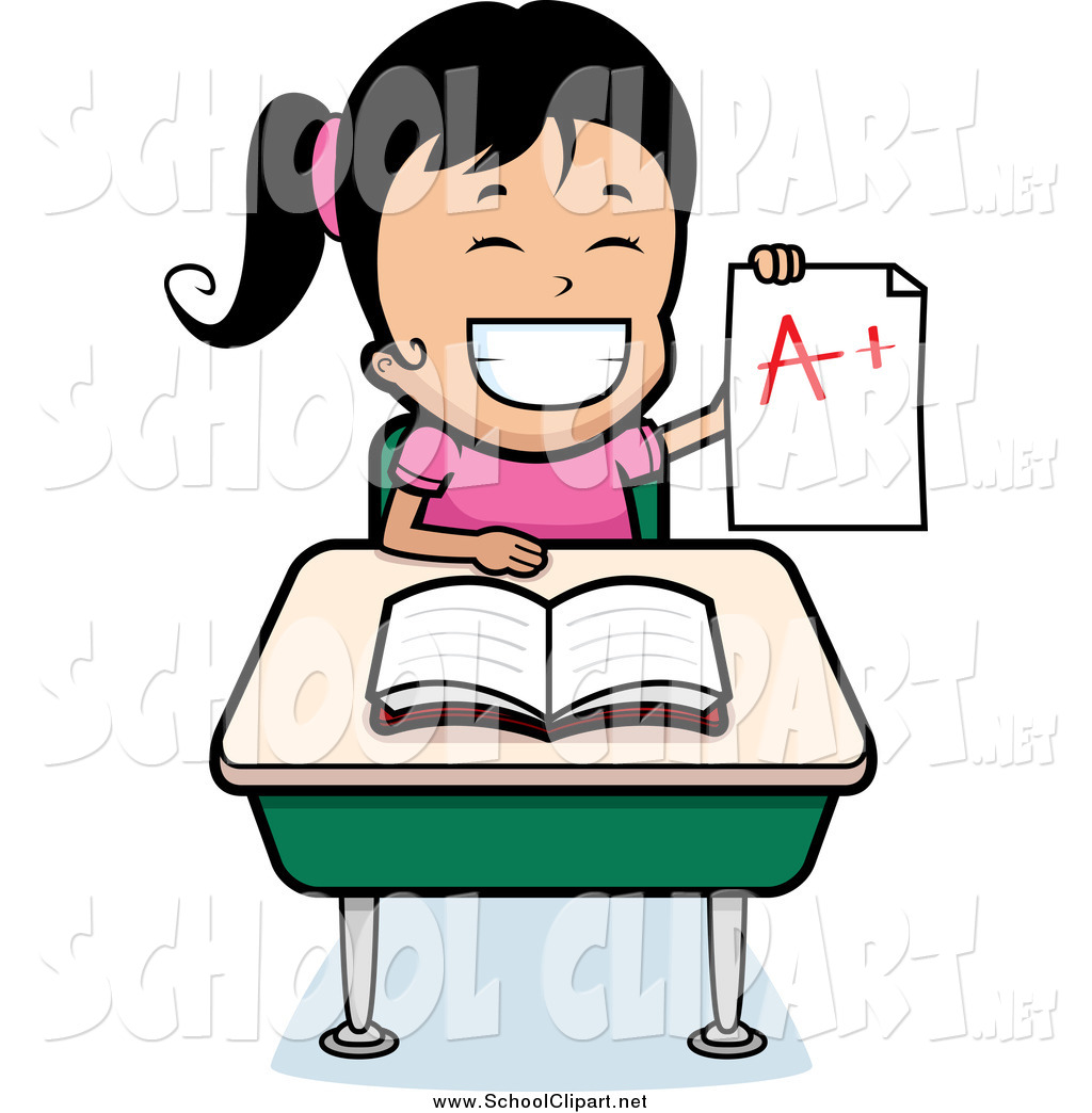 svg royalty free Grades clipart intellegent. Smart girl transparent