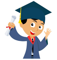 clip library library Free graduation clip art. Graduate clipart.