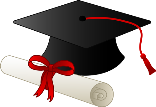 jpg royalty free download Of graduation cap and. Graduate clipart.