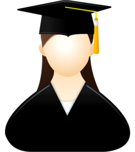 picture royalty free download Graduate clipart. Graduation female free on.
