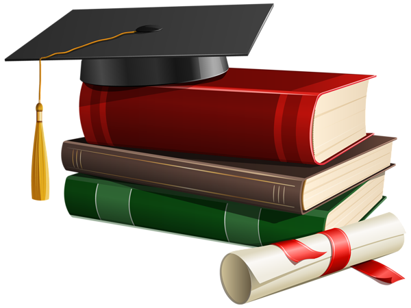 freeuse library Graduate clipart scolarship. Graduation cap books and