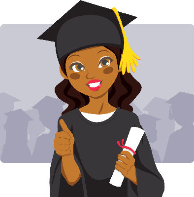 clip black and white stock African american . Graduation clipart speaker
