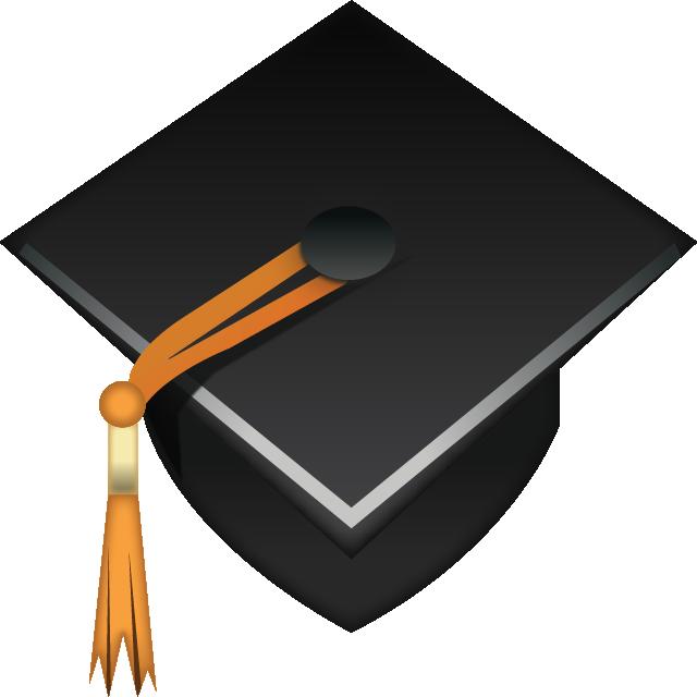 vector library stock Download emoji icon island. Vector books graduation cap