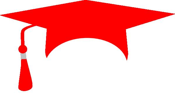 clip freeuse download Red Graduation Cap Clip Art at Clker