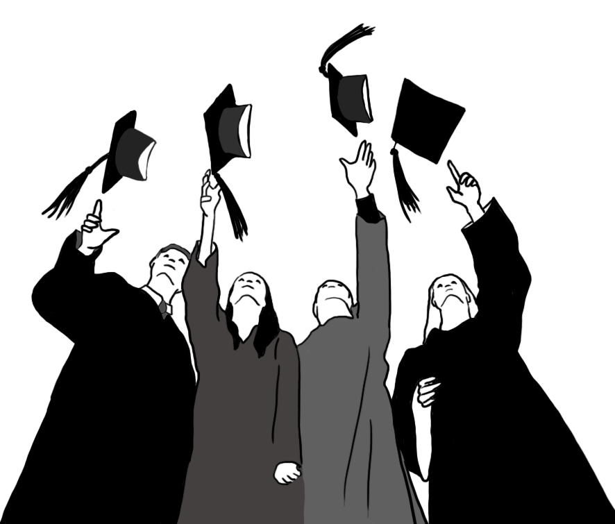 clip black and white download Graduation clipart drawing. Free graphics graduate cap