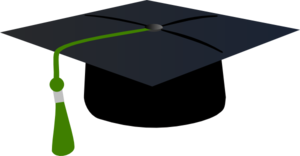 picture transparent Graduation clipart graduation hat. With green tassle clip