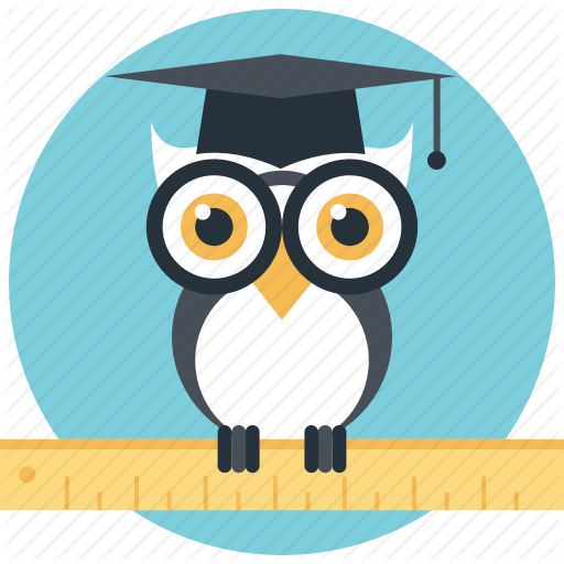 graphic transparent stock Graduation clipart owl. Education and knowledge by