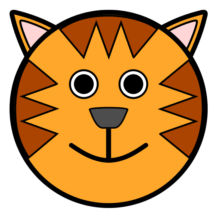 picture royalty free download . Tiger clipart face