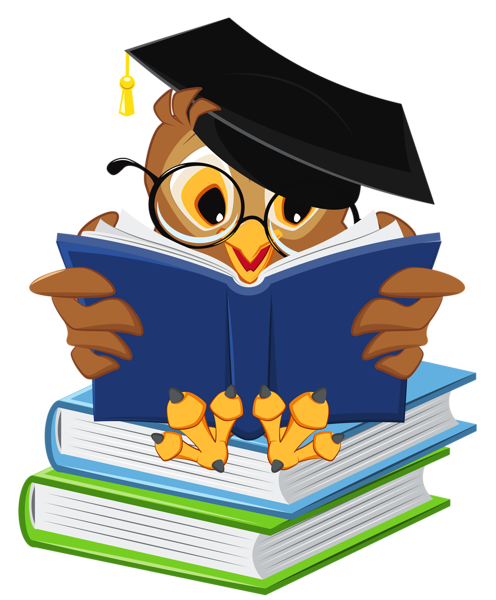clip art freeuse library Vector books school. Owl with png clipart