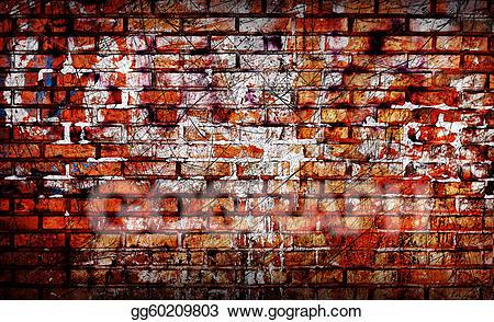clip art black and white stock Graffiti brick wall clipart. Stock illustration old drawing