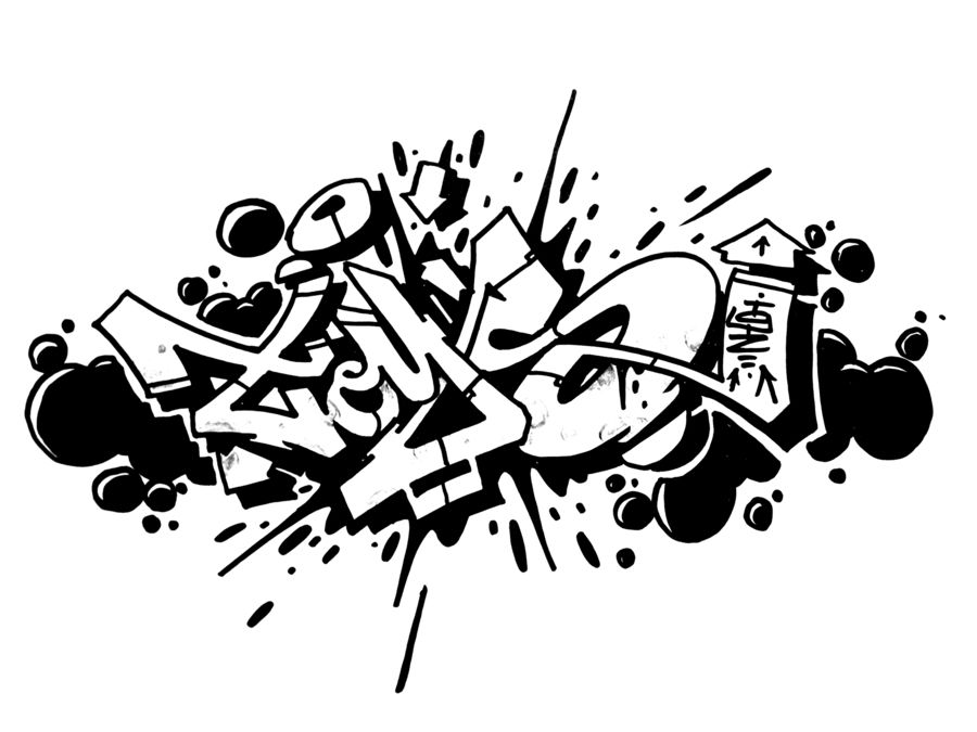 banner royalty free library Blackbook sketches . Graffiti clipart black and white