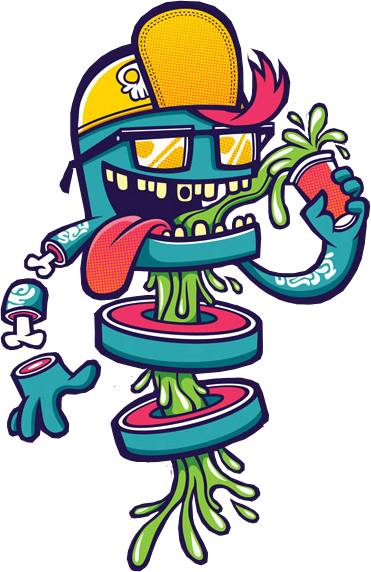 vector library download Graffiti clipart character.  renders de monstruos
