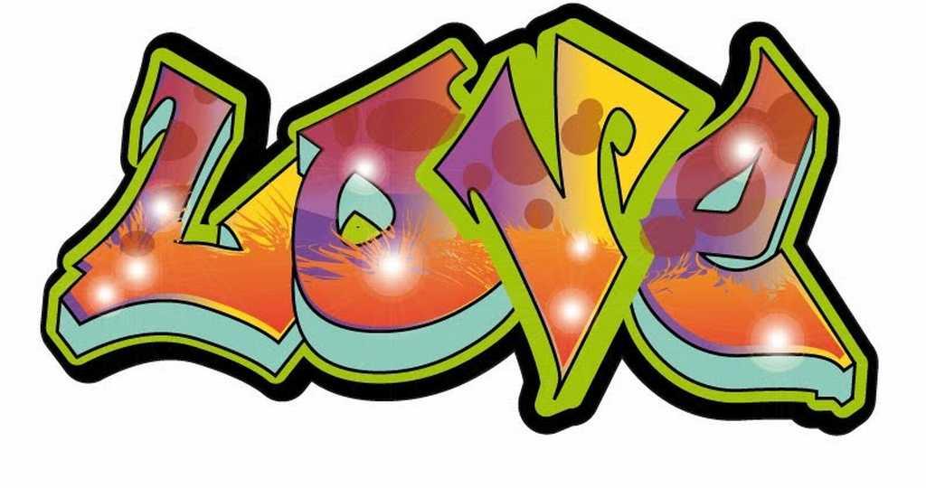 png stock Graffiti clipart love. Colourful and elegant art