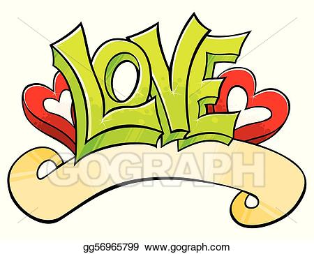 svg royalty free Graffiti clipart love. Vector stock with illustration