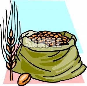 vector library library Grain clipart bag grain. Clip art image wheat