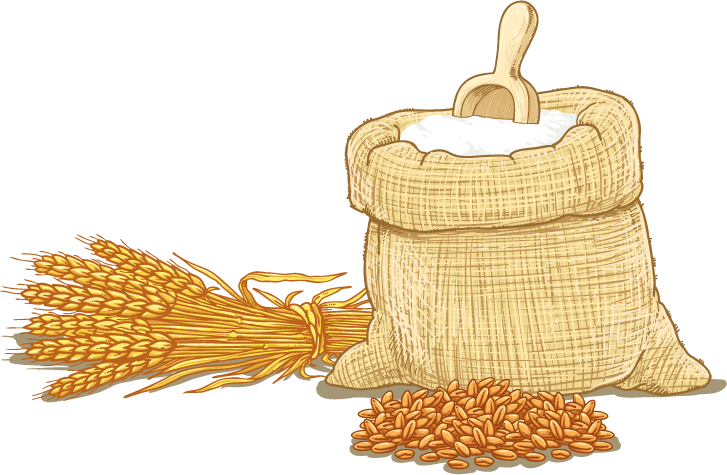 transparent stock Wheat cereal clip art. Flour clipart