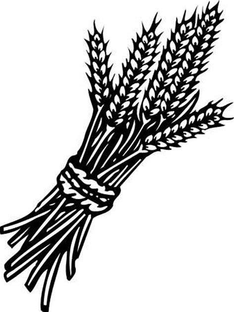 vector library download Image result for black. Wheat bundle clipart