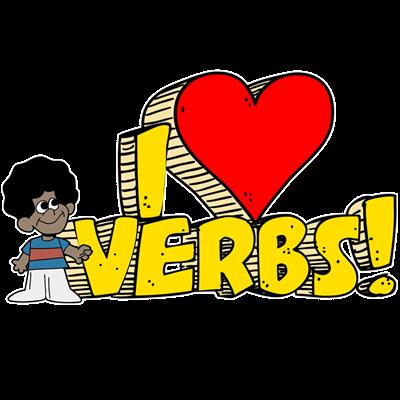 clip freeuse download Mundo infantilandia verbs. Grammar clipart irregular verb