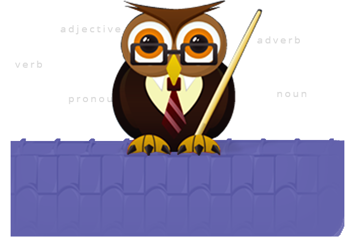 banner free Grammar clipart owl. English transparent