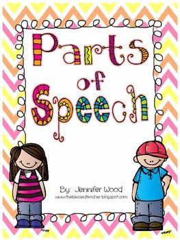 graphic free Grammar clipart part speech. Parts of pack grade