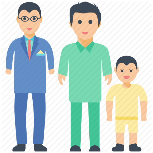 stock Family by prosymbols love. Grandfather clipart father and son
