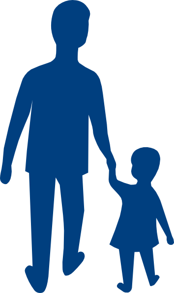 vector library download Grandfather clipart father and son. Silhouette clip art at