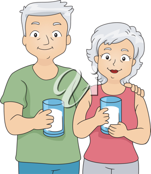 graphic royalty free Iclipart illustration of an. Grandfather clipart glass