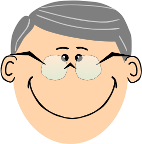 banner royalty free Grandpa with spectacles small. Grandfather clipart grandad