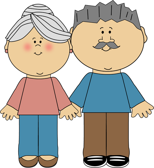 black and white Grandparent clipart head. Family trees can be