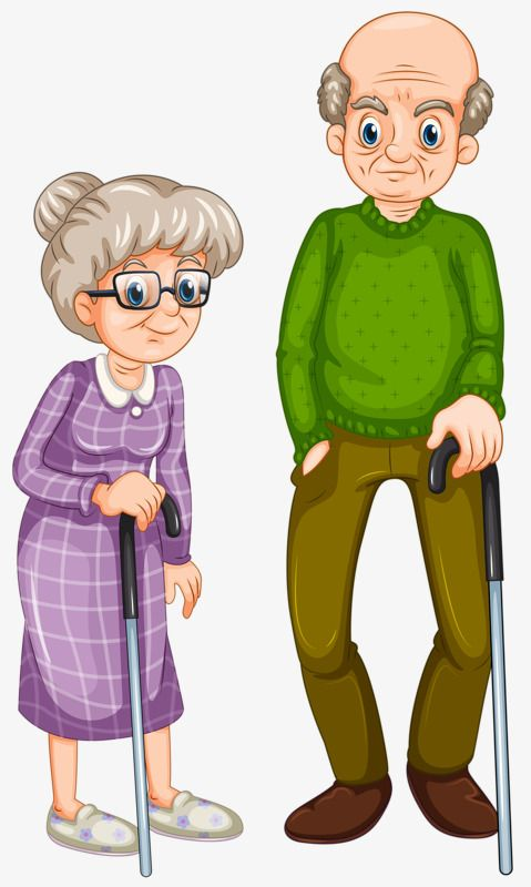 clip art royalty free stock Support crutches old couple. Grandfather clipart grandmather
