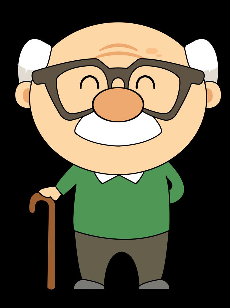 svg library stock Grandfather clip art free. Grandpa clipart nice man