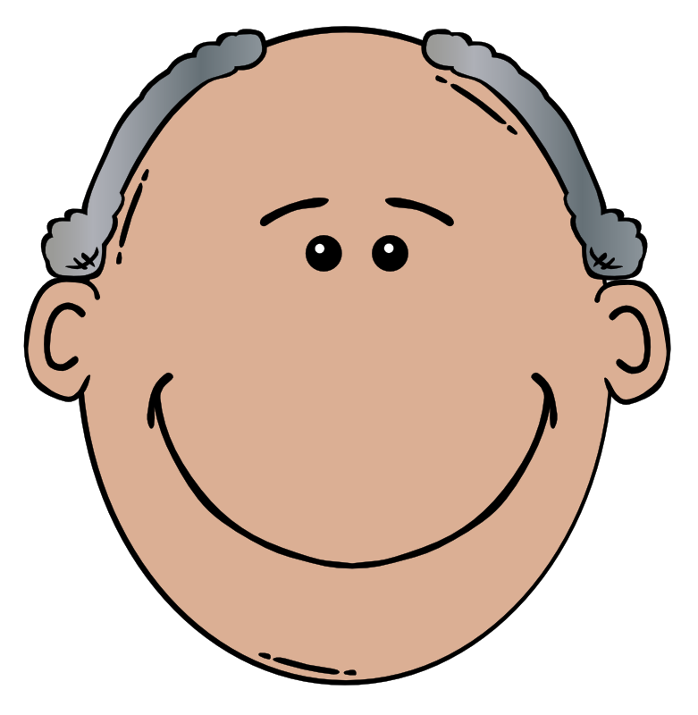 png freeuse stock Clip art free panda. Grandfather clipart gray haired man